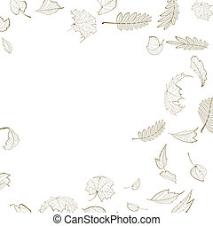 Fall leaf skeletons autumn design template. EPS10