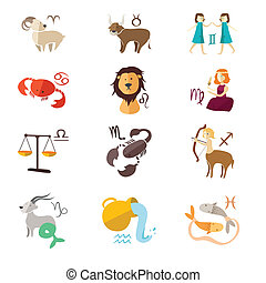 Zodiac sign icons