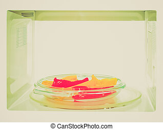 Retro look Microwave with peppers