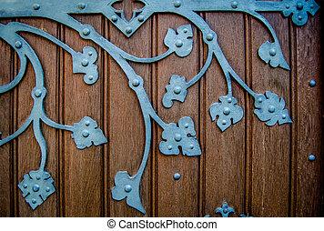 Old Ornate Church Door Hinge - Detail Of An Ornate HInge On...