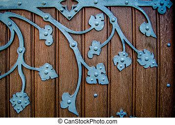 Old Ornate Church Door Hinge - Detail Of An Ornate HInge On...