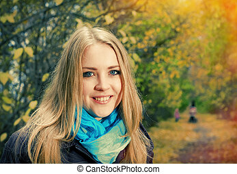 Young pretty blonde woman