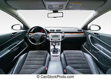 Interior of luxury car