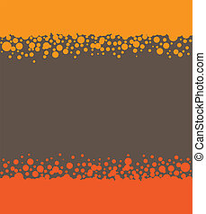 Abstract orange and brown background with circles.