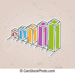 color sketch of the bar chart