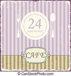 Cafe shop vintage retro template Vector - Cafe shop vintage...