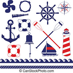 Nautical Equipment - Nautical equipments element set