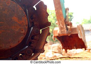 Truck backhoe