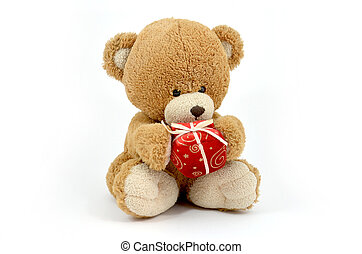 Cute teddy bear doll