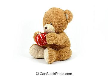 Cute teddy bear doll