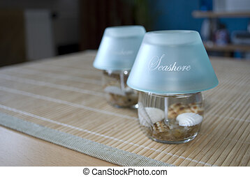 Seashore blue candles - Seashorte blue candles made of gell...
