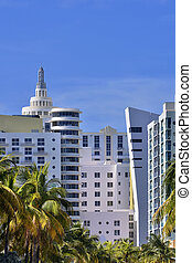 Miami Beach Art Deco Hotels - Art deco hotels and palm trees...