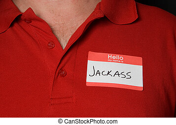 Name Tag - A generic name tag that says jackass