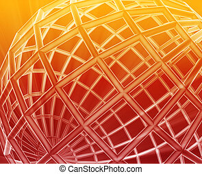 Globe wireframe abstract