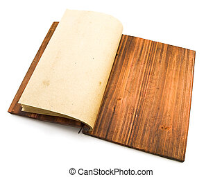 ancient notebook - open ancient empty notebook against the...