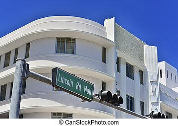 Miami Beach - Lincoln Road Mall street sign located in Miami...