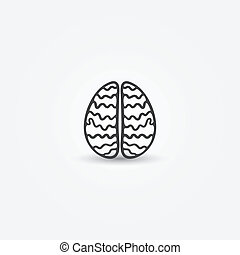 Abstract simple brain vector icon