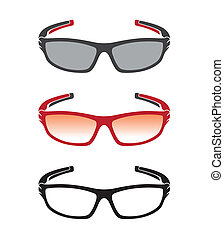 Vector group of an sunglasses on white background.