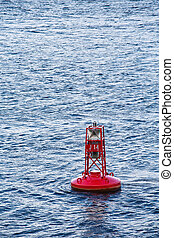 Red Channel Marker on Blue Waves
