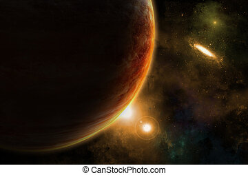 Fictional space background - Space background with fictional...