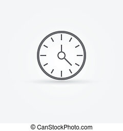 Vector simple clock or time icon