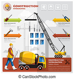 Construction And Building Business Infographic Design...