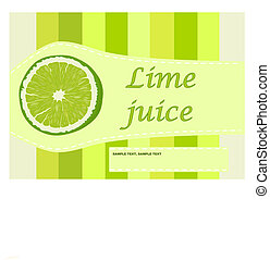 Lime juice label - vector illustration