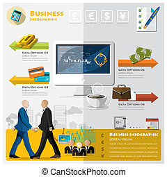 Business And Financial Infographic Design Template