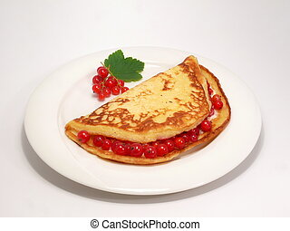red currant pancake