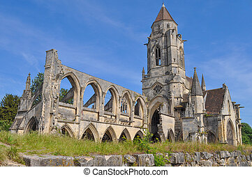 Ruins of Caen Abbey in Caen France