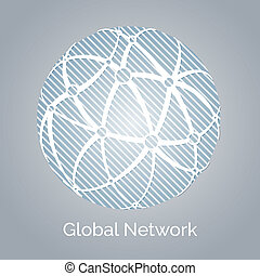 Global network with a linked interconnected network of hubs...
