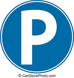 Parking sign on white background Vector illustration