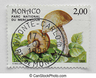 Montecarlo stamp - Stamp of Montecarlo near France, European...