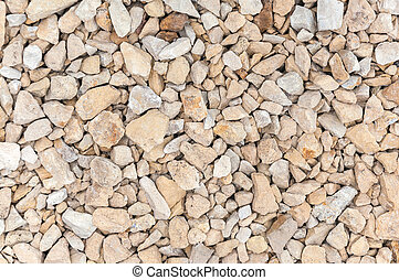 Closeup of gravel stones background or texture