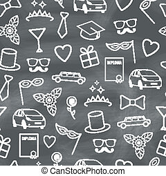 Prom Seamless Pattern - Prom Seamless Texture with Carnival...