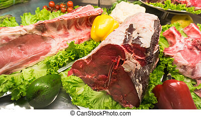 meat in a supermarket