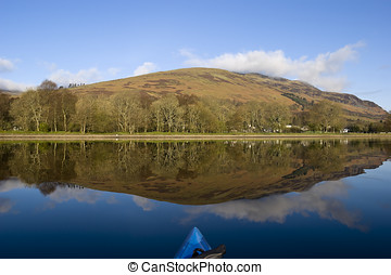 Kayaking on Loch Earn - View from kayak on Loch Earn...