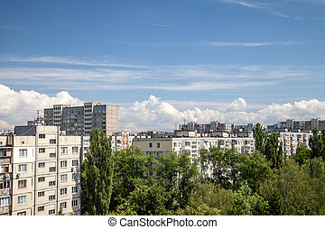 View from rooftop of residential community