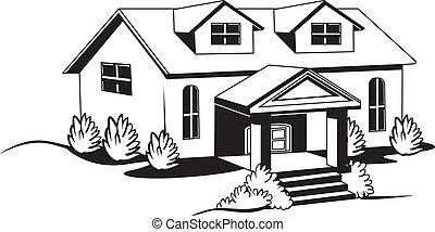 Hausbau clipart  Haus Illustrationen und Clip-Art. 392.571 Haus Lizenzfreie ...