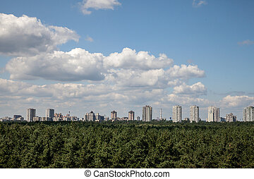 Cityline Kyiv from rooftop - Cityline Kyiv Ukraine from...