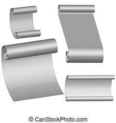 Collection of blank paper sheets vector