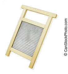 Washboard - A Wooden washboard, used as a music instrument