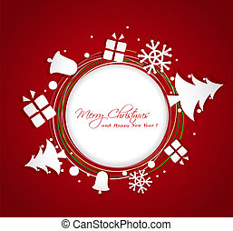 paper Christmas ornaments  greeting card