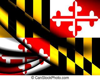 Flag of Maryland, USA.