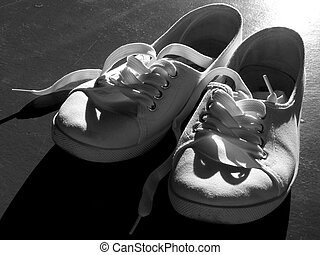 tennis shoes - white tennis shoes in black and white
