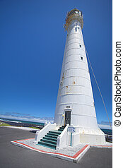 The Slangkop Lighthouse at Kommetjie, Western Cape. The...