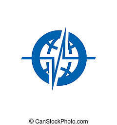 Global seismology sign - Branding identity corporate logo...