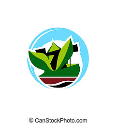 Land reclamation sign - Branding identity corporate logo...