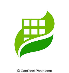 Vector eco house sign - Branding identity corporate logo...