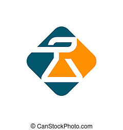 Chemical industry sign - Branding identity corporate logo...